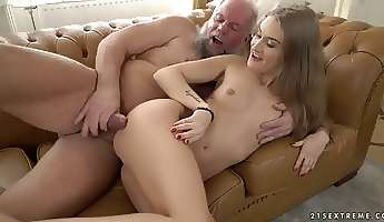 sexy tiffany tatum is getting fucked by a chubby grey bearded old fart