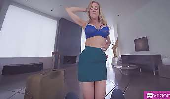 hot milf pleasuring cock of her boyfriend while talking to her husband