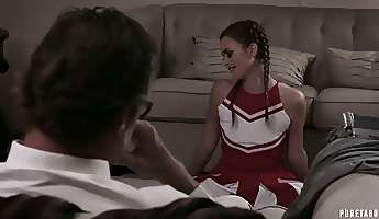 naughty cheerleader haley reed gets poked missionary style darn great