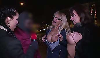 really horny reporter lana vegas takes part in random hot orgy party