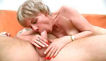 short haired cougar wife rosalie is busy with riding dick on top