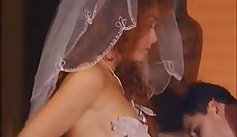 hot ginger bride fucks an indian babe with her husband