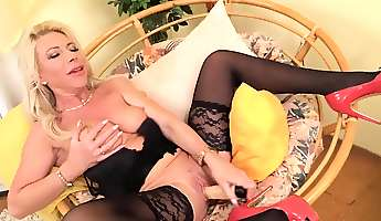 horny housewife sylvie playing with her toys
