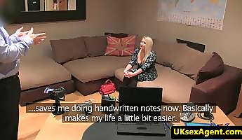 busty british amateur fucks in anal audition