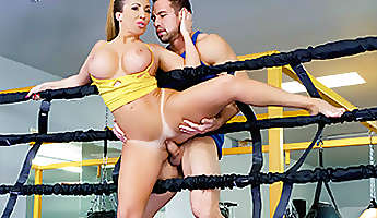 richelle ryan in busty babe goes boxing  therealworkout
