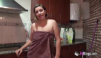 cute spanish nurse shows us her relaxation style