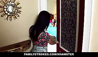 familystrokes  step sisters tease and fuck step brother