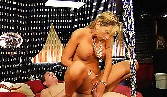 seductive blonde milf with big hooters morgan is longing for action