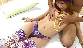 skinny and cute japanese teen gets pussy banged