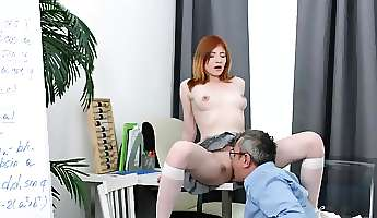 sultry schoolgirl was seduced and pounded by aged teacher19l