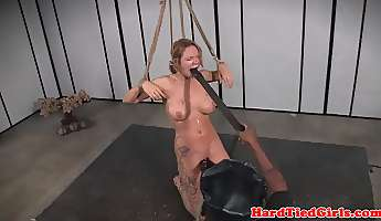 submissive bigtits gets toyed and canned