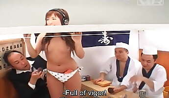 jav reverse glory hole sushi restaurant game show subtitles