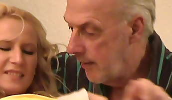 92grandpa old young old man young girl