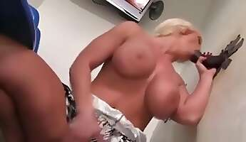 double glory hole blowjob with facial