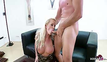 rough deep anal sex for round ass milf cindy in office