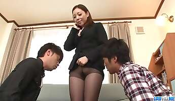 maki mizusawa office hardcore in special threesome  more at javhdnet