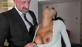 pascalssubsluts  bigtitty tiny chick dominated