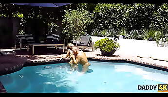 daddy4k skinny nymph copulates with bfs f in the swimming pool
