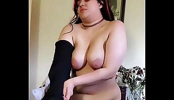 goth girl undresses doesn039t know i039m recording