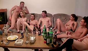 sexhungry czech chicks drink and get naked at student party