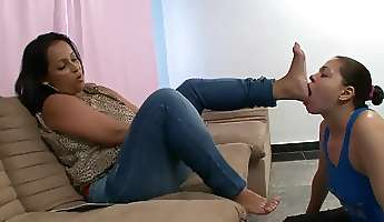 brazil foot gagging domination