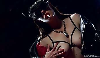 sassy bitch in latex outfit samantha bentley gets her anus destroyed