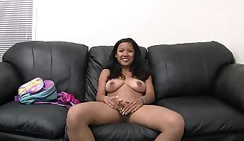 asian amateur auditions with her blowjob skills