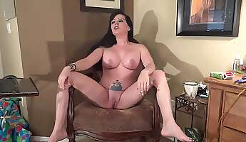 mature woman smoking with legs spread wide