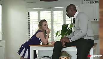 kinky cheerleader lilly ford goes interracial and she is fucked doggy hard