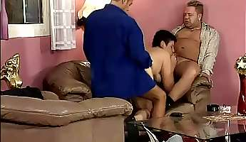 short haired perverted mature slut martha is made to work on dicks