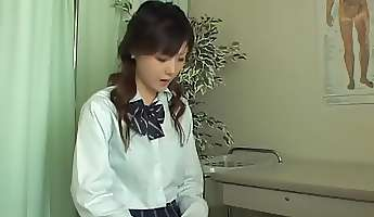 asian teen is getting full medical checkup on hidden cam