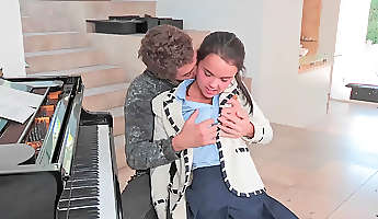 super cute teen fucked by her horny piano teacher