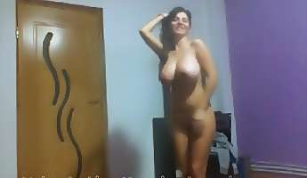 busty indian babe has a sexy solo dance on webcam
