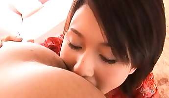 gorgeous asian teen plays good with penis in pov show