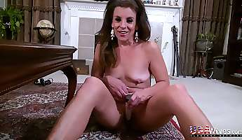 sexy old us adult model penny priet loves to masturbate at home
