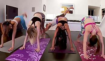 tiny teen huge guy first time hot sneaky yoga